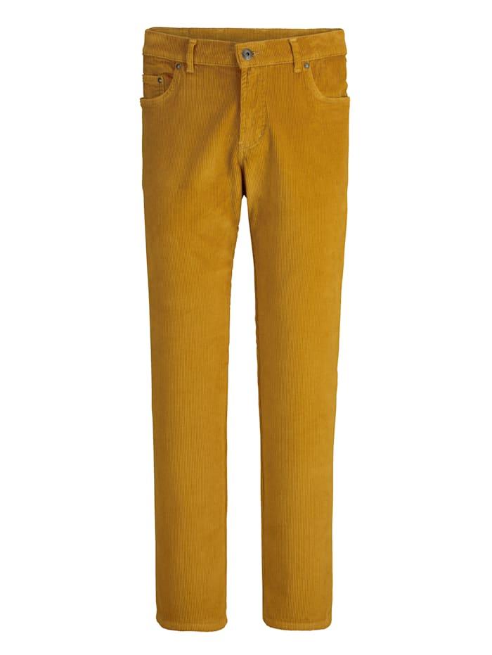 BABISTA Pantalon en velours côtelé ultra doux, Jaune maïs