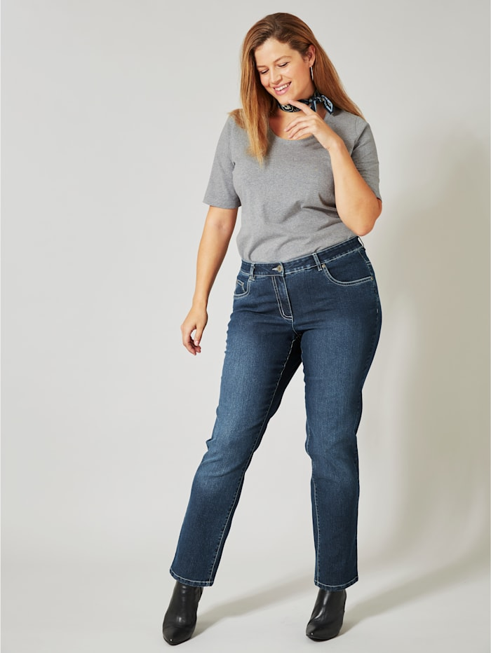 Dollywood Slim Fit Jeans Emma, Dunkelblau