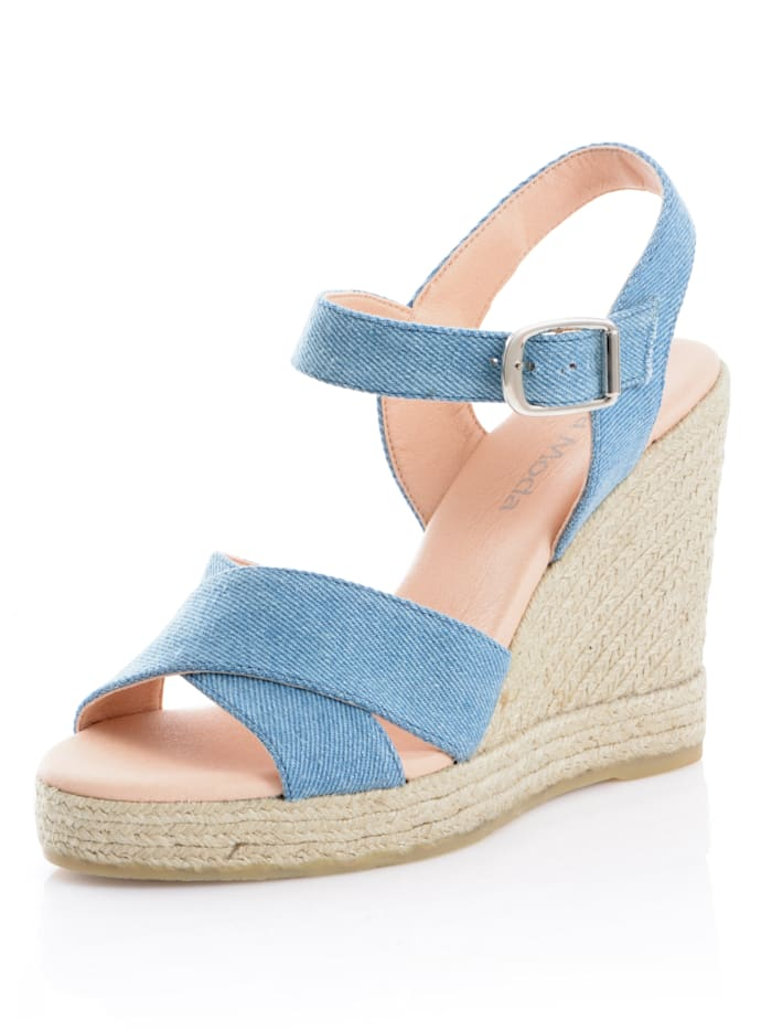 Alba Moda Sandaaltje in denimlook, Blauw