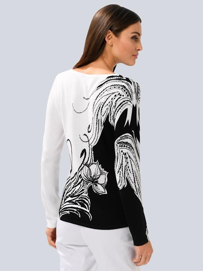 Pullover in floralem Dessin