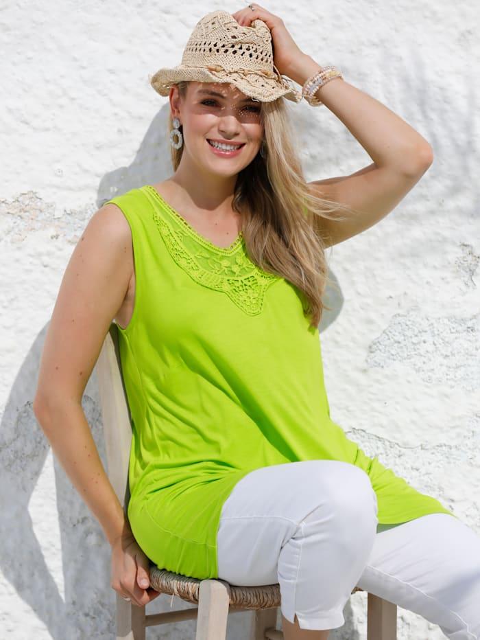 MIAMODA Topje met brede bandjes, Groen