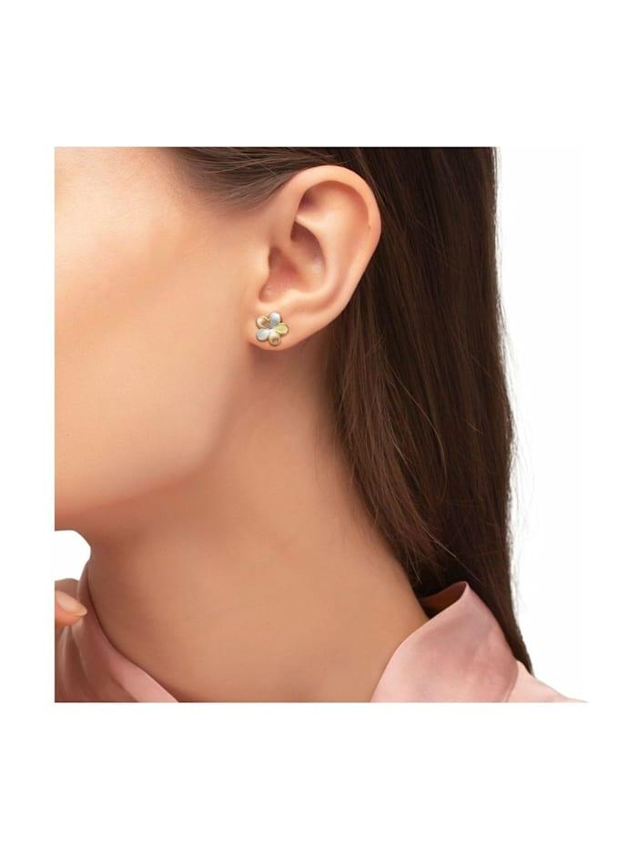 Ohrstecker für Damen, Gold 375, Blume