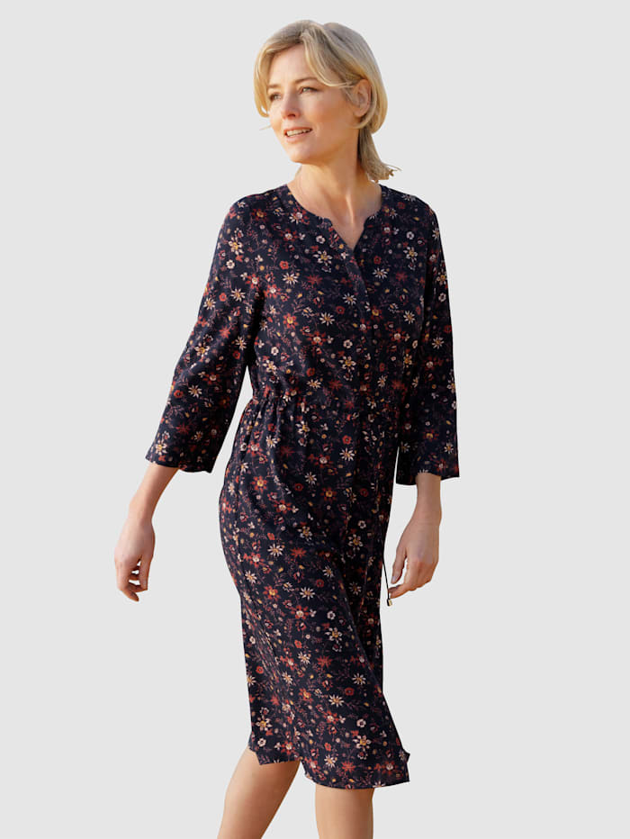 Dress In Robe à ravissant imprimé floral, Marine