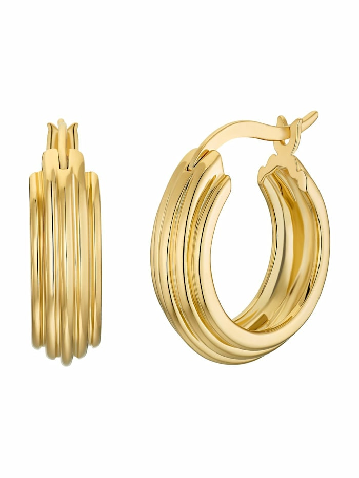 Creolen für Damen, Sterling Silber 925 vergoldet