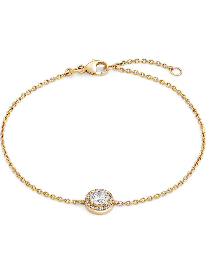 FAVS. FAVS Damen-Armband 375er Gelbgold 17 Zirkonia, gelbgold