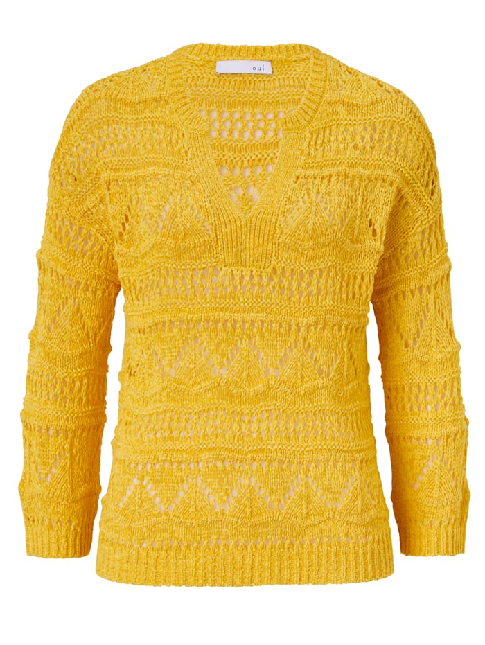 OUI Pullover, Gelb