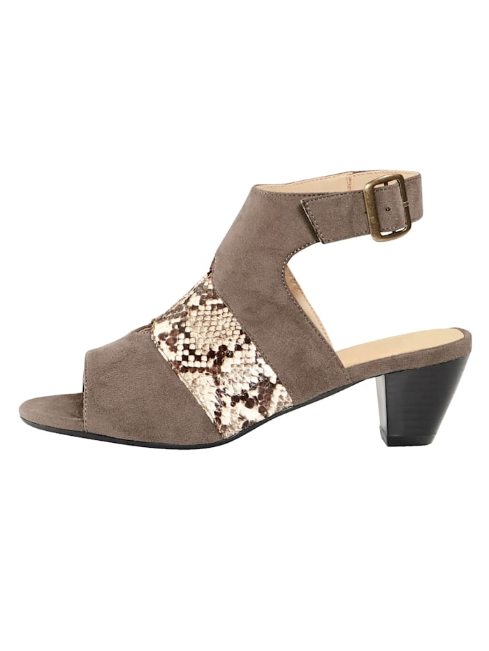 Sandales à bride cheville ajustable