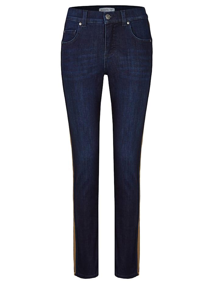Angels Jeans ,Skinny Galon' mit seitlichen Kontraststreifen, night blue used buffi
