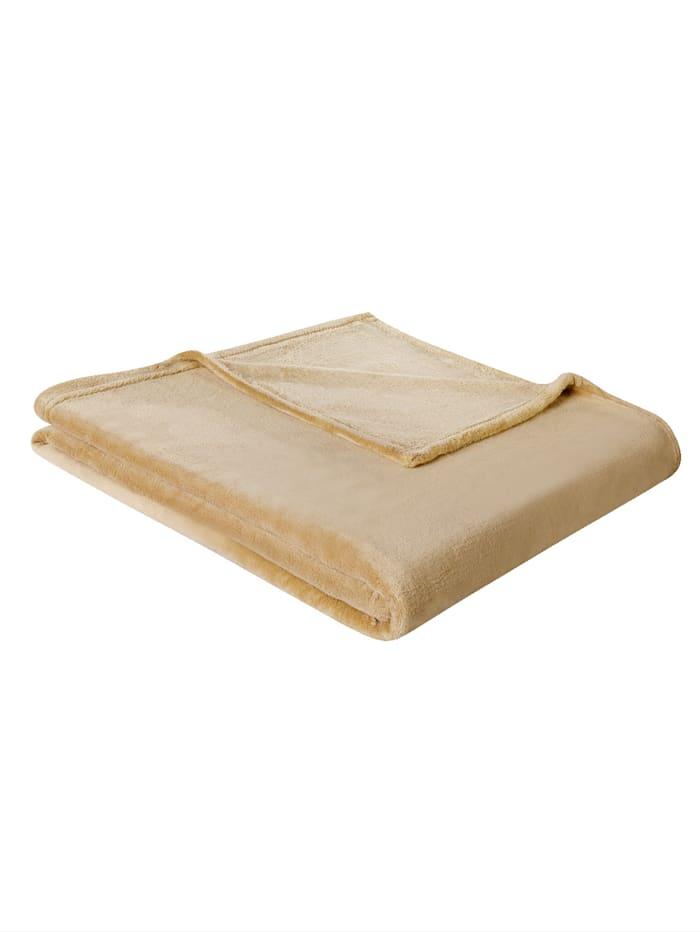 biederlack Plaid Soft & Cover, Beige