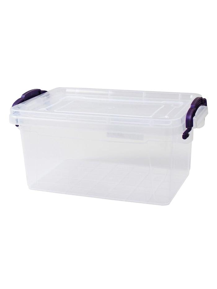 HTI-Living Box mit Deckel 1,75 L Sofia, Transparent, Lila