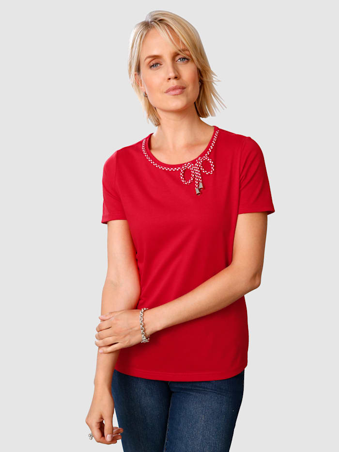 Paola Top with drawstring, Red