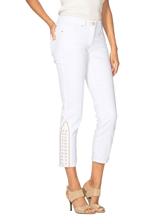 AMY VERMONT 7/8-jeans met siervetersluiting, Wit