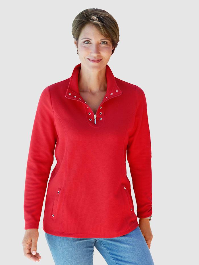 Paola Sweat-shirt avec rivets fantaisie, Rouge