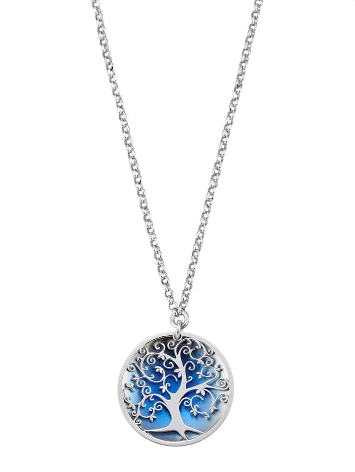 Hanger Levensboom met ketting, Blauw