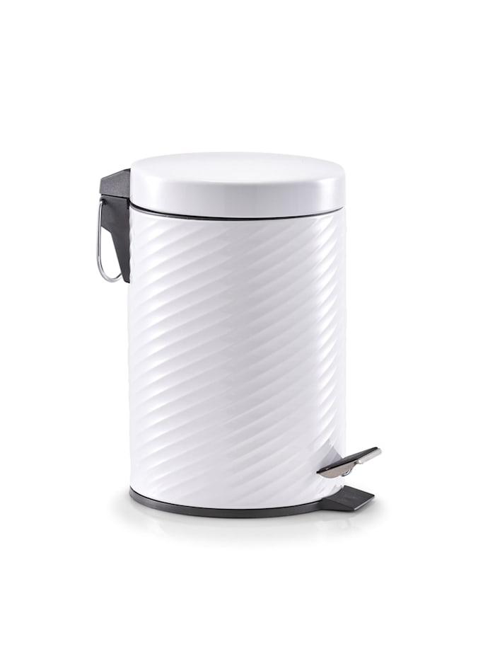 HTI-Living Kosmetikeimer Metall, Weiß
