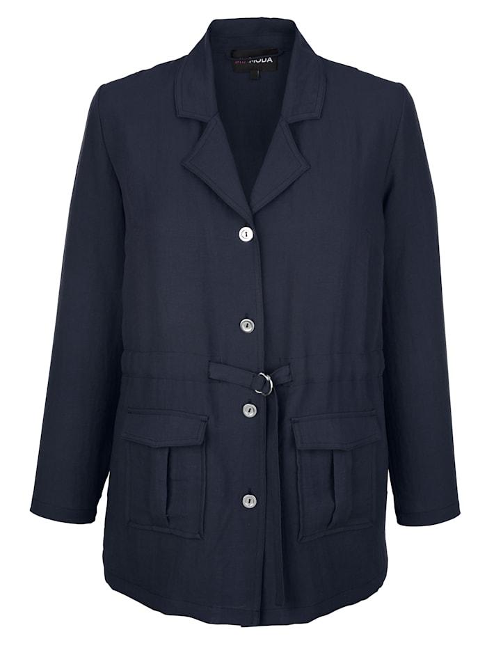 MIAMODA Blúzkový kabátik v ľahkej letnej kvalite, Námornícka