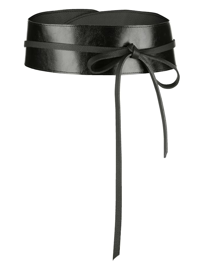 Paola Taillengürtel aus echtem Leder, schwarz