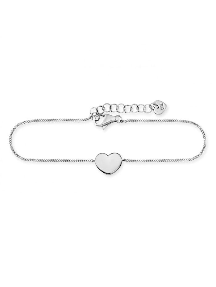 CAI Armband 925/- Sterling Silber ohne Stein 16+3cm rhodiniert, weiß