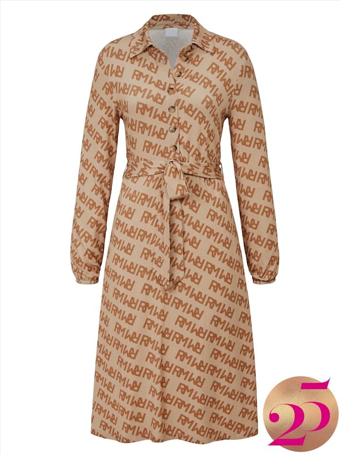 REKEN MAAR Kleid mit Logodruck, Jubiläumskollektion, Sand