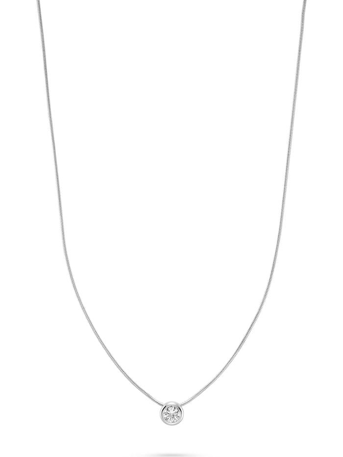 FAVS. FAVS Damen-Kette 925er Silber 1 Zirkonia, silber