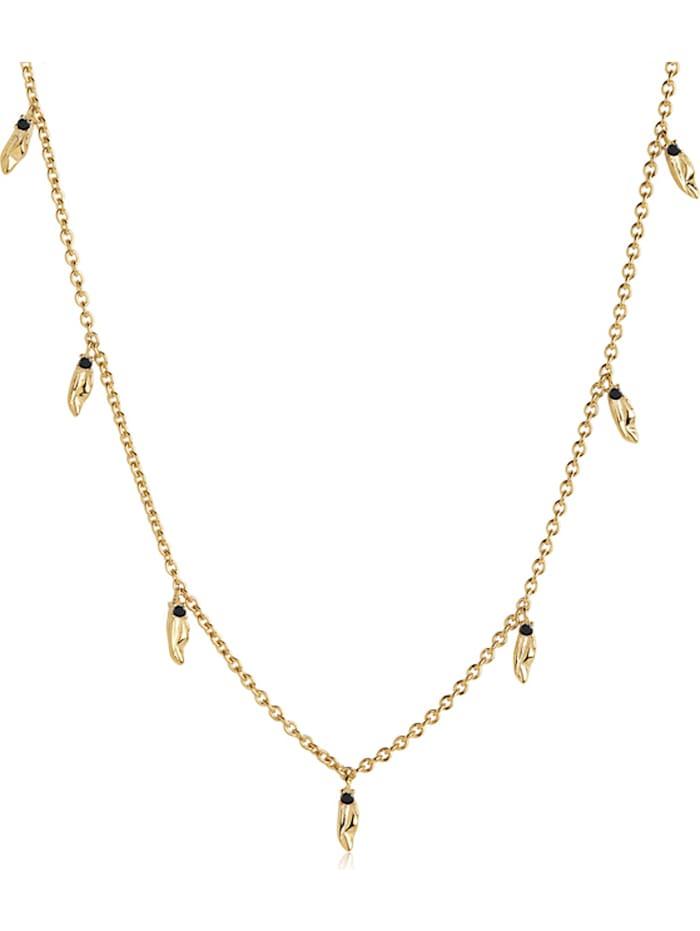 Sif Jakobs Sif Jakobs Jewellery Damen-Kette 925er Silber Zirkonia, gold/schwarz