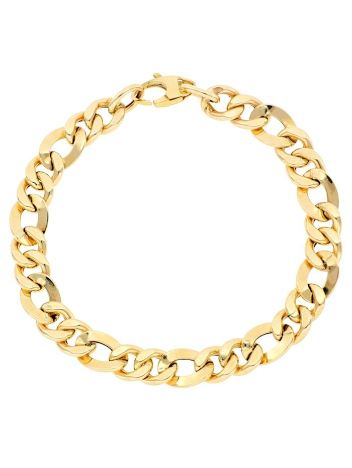 Grazielli Figaroarmband in Gelbgold 375, Gelbgoldfarben
