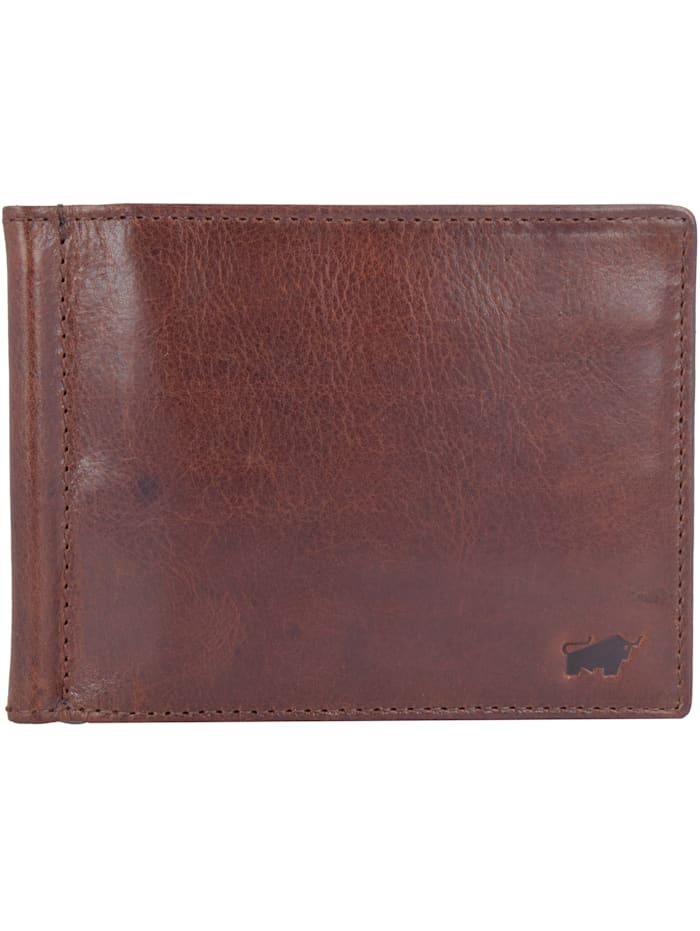Braun Büffel Arezzo Kreditkartenetui RFID Leder 12 cm, tabak