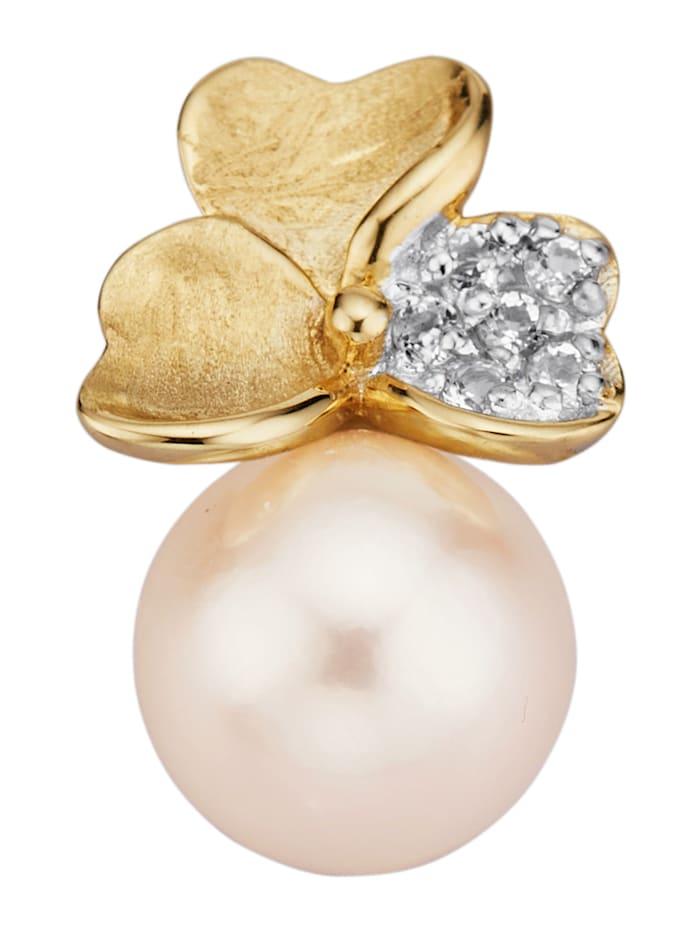 Amara Perles Pendentif avec perle de culture d'Akoya, Blanc