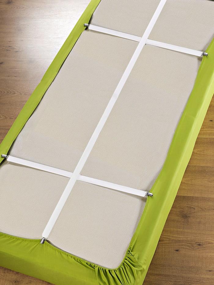 Wenko Hoeslakenspanners voor matrassen van maximaal 100 x 200 cm, wit