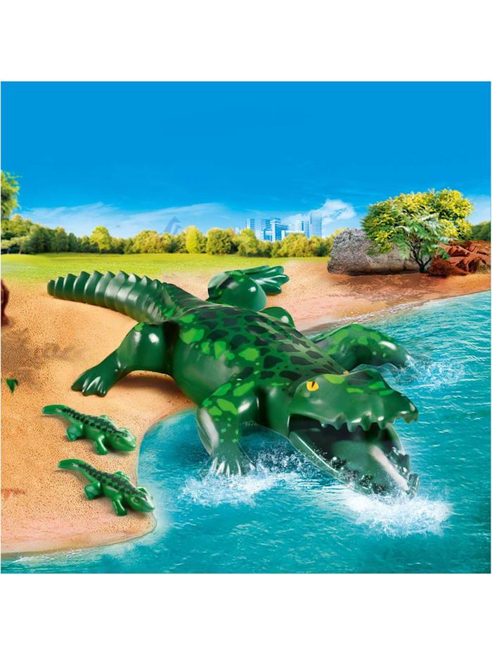 Konstruktionsspielzeug Alligator mit Babys
