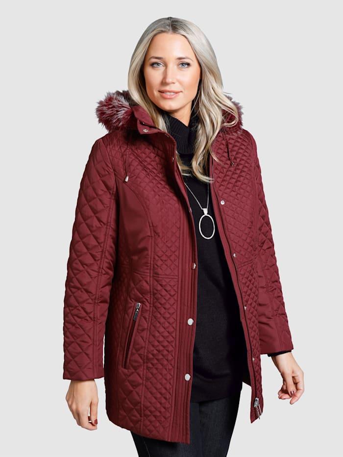 m. collection Gewatteerde jas met afneembare capuchon, Bordeaux