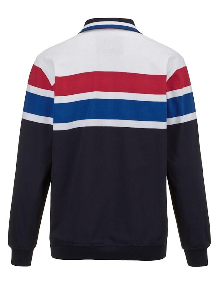 Sweatshirt met sportieve kraag