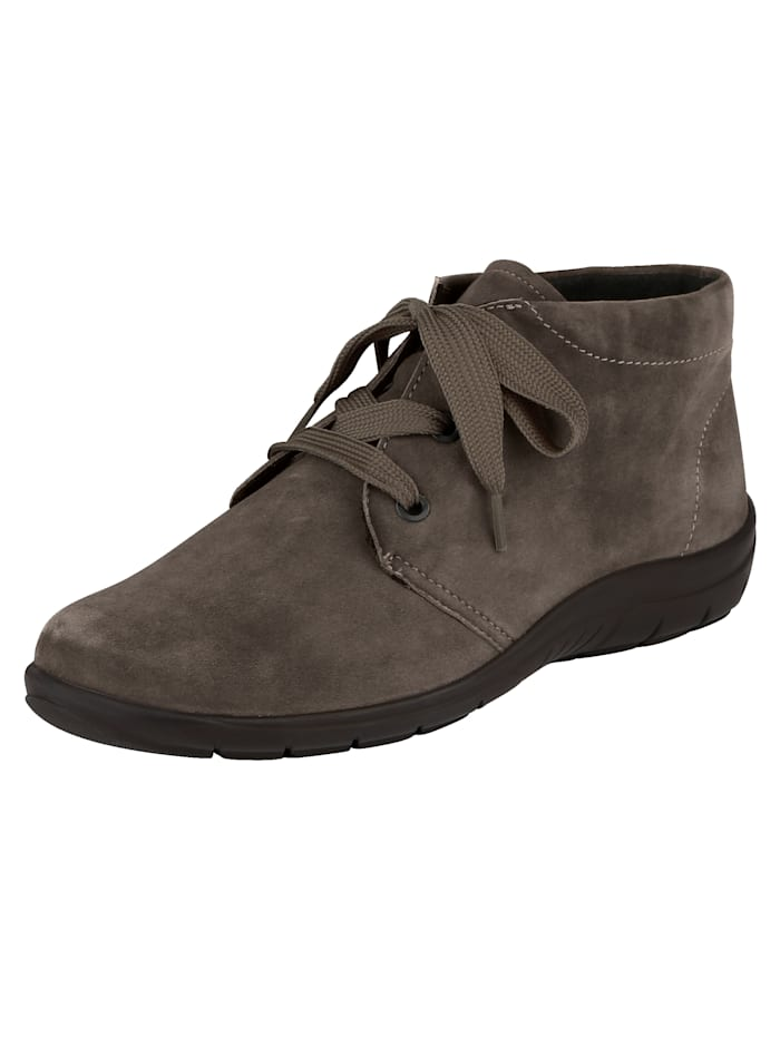 Naturläufer Lace-up Ankle boots made of soft leather, Taupe