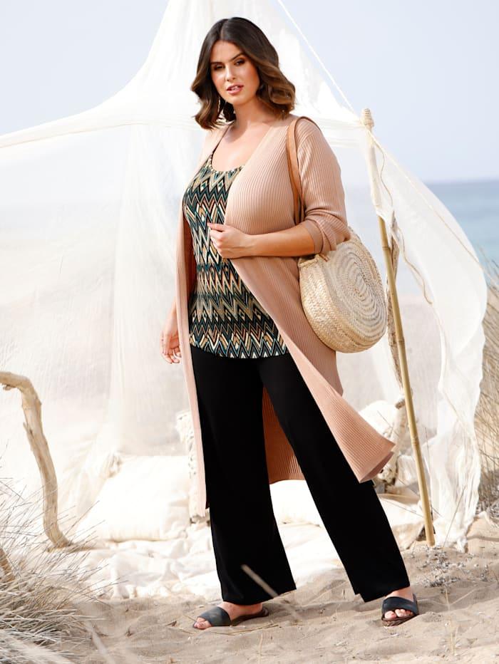 Sara Lindholm Jerseyhose in weich fließender Qualität, Schwarz