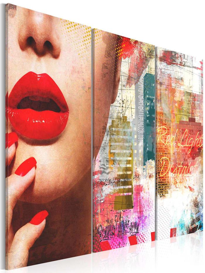 artgeist Wandbild Red Light District, mehrfarbig