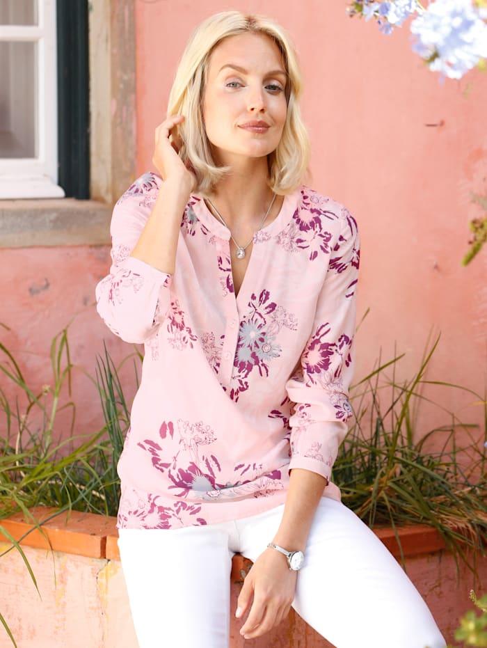 Paola Tunique à motif floral, Rose clair/Bois de rose