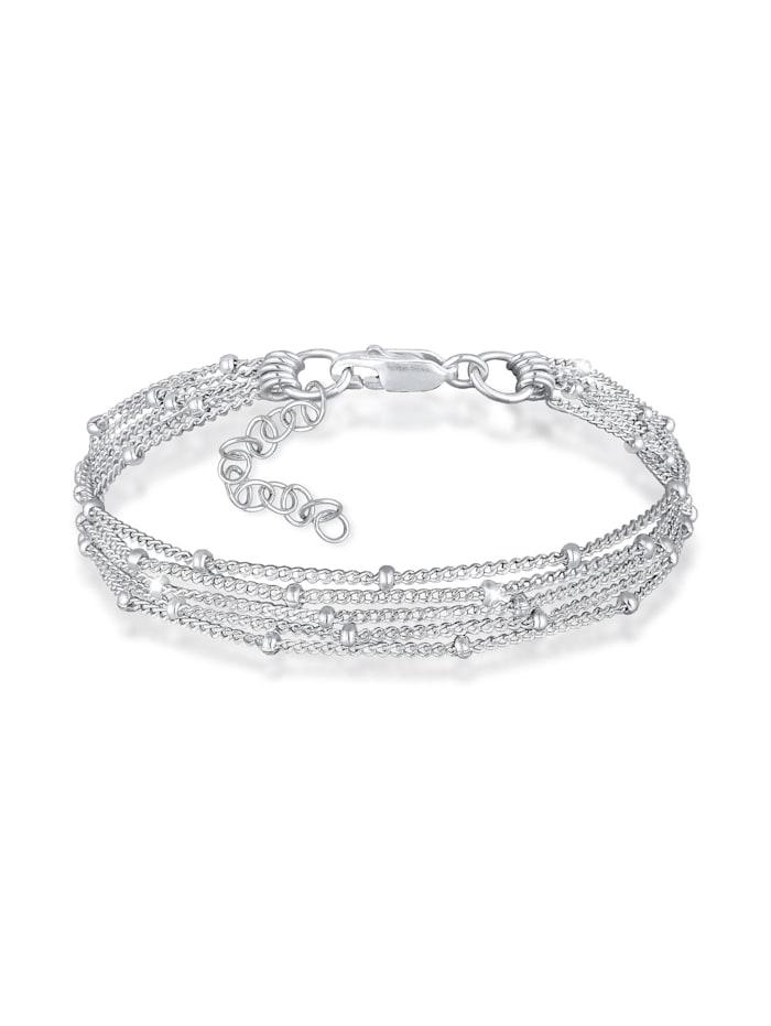 Elli Armband Basic Kugelkette Layer Look Trend 925Er Silber, Silber