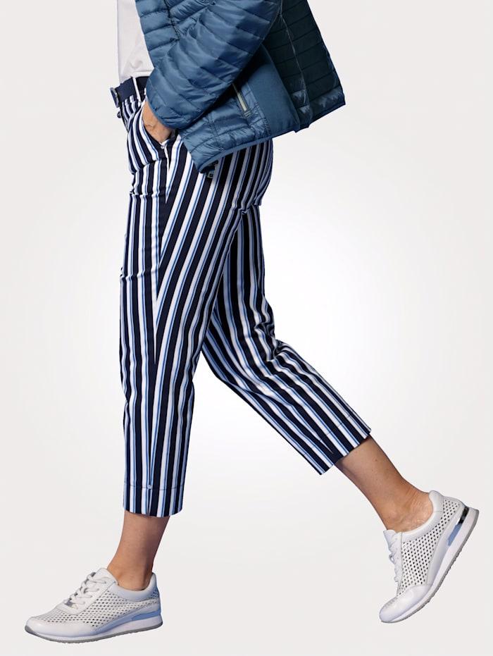 Pantalon 7/8 à rayures
