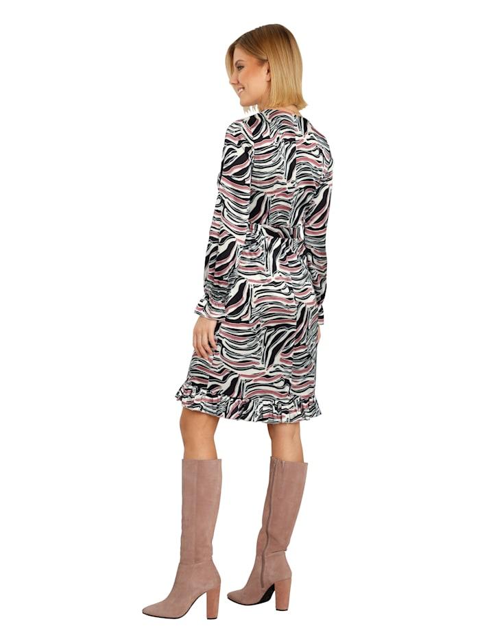Kleid in Wickeloptik mit Rüschendeko