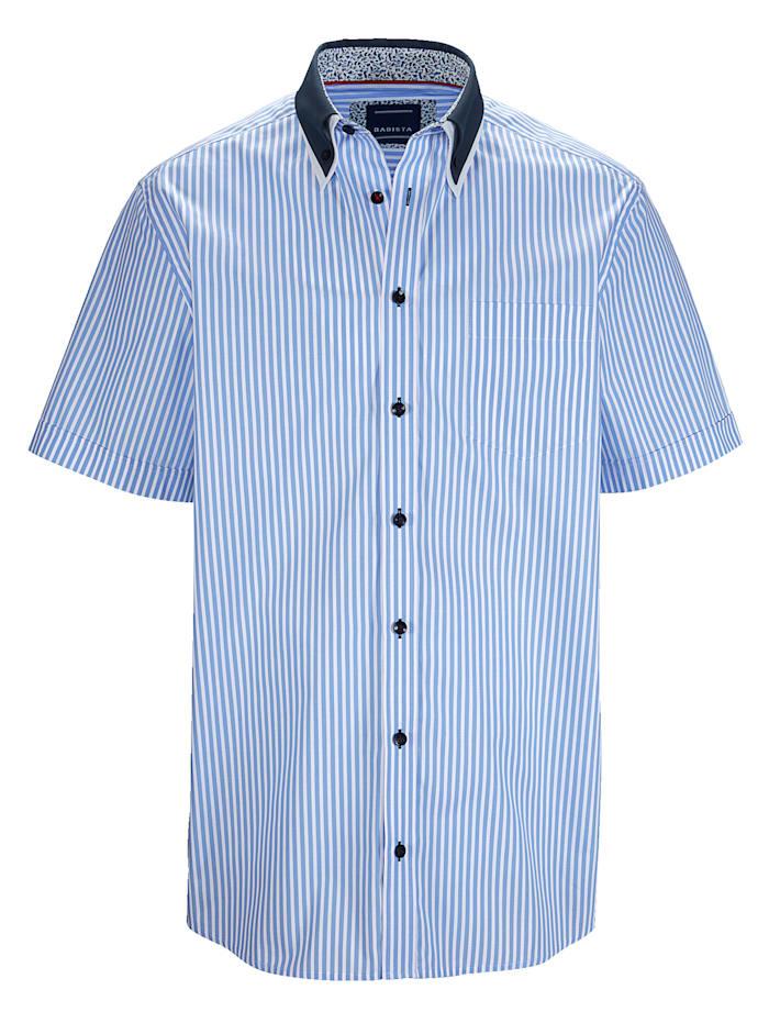 BABISTA Chemise Avec un double col, Bleu ciel/Blanc