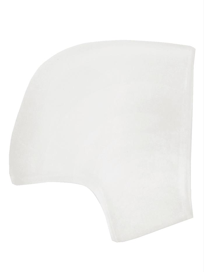Wellys 2 stk. hælbeskyttelse av silikon, Hvit
