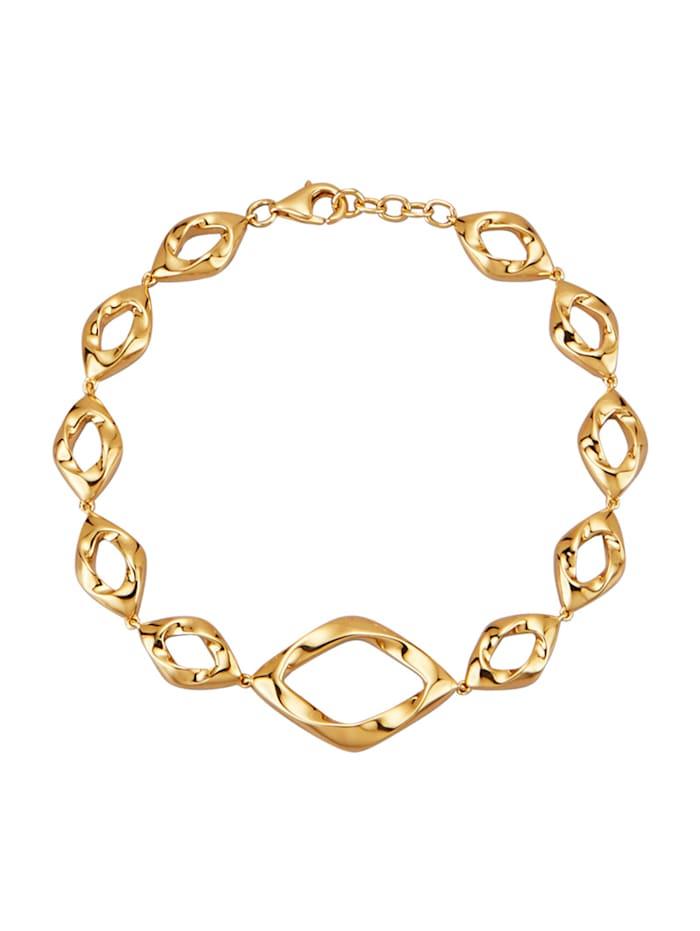Amara Or Bracelet en argent 925, doré, Coloris or jaune