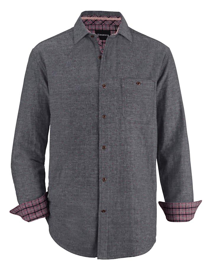 BABISTA Hemd mit modischen Kontrasten, Blau/Grau/Bordeaux