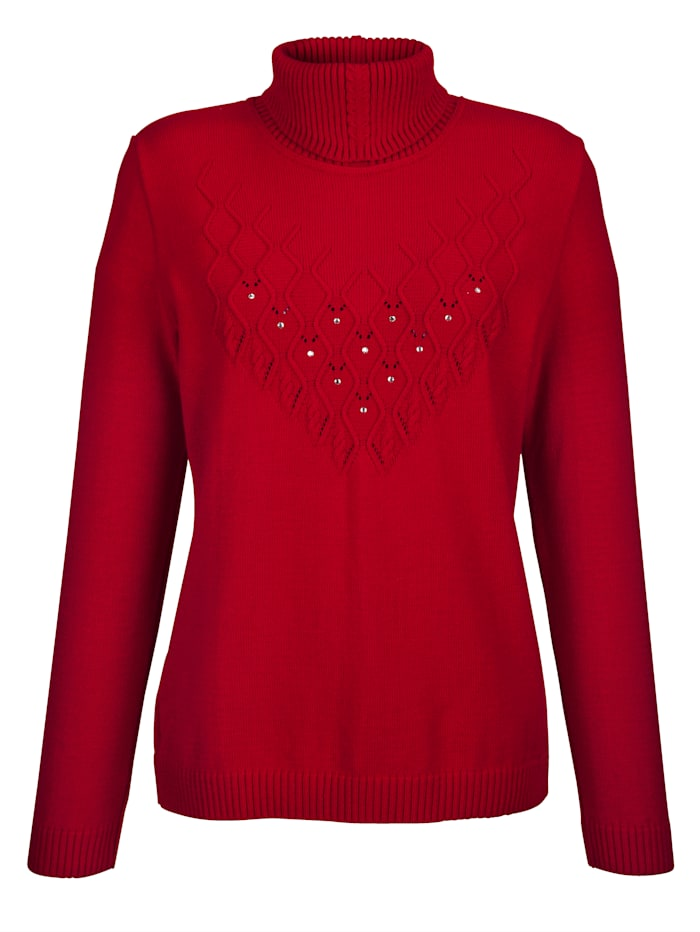 Polo neck jumper with embellishments