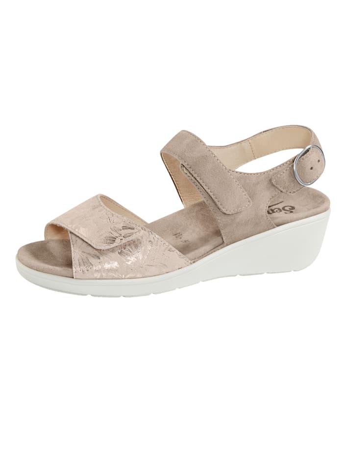 Semler Sandale mit Luftpolsterlaufsohle, Taupe