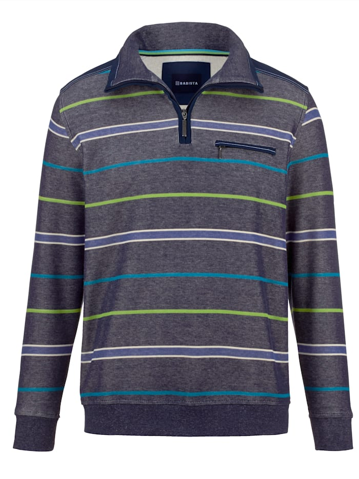 BABISTA Sweatshirt in bicolor look, Blauw/Groen