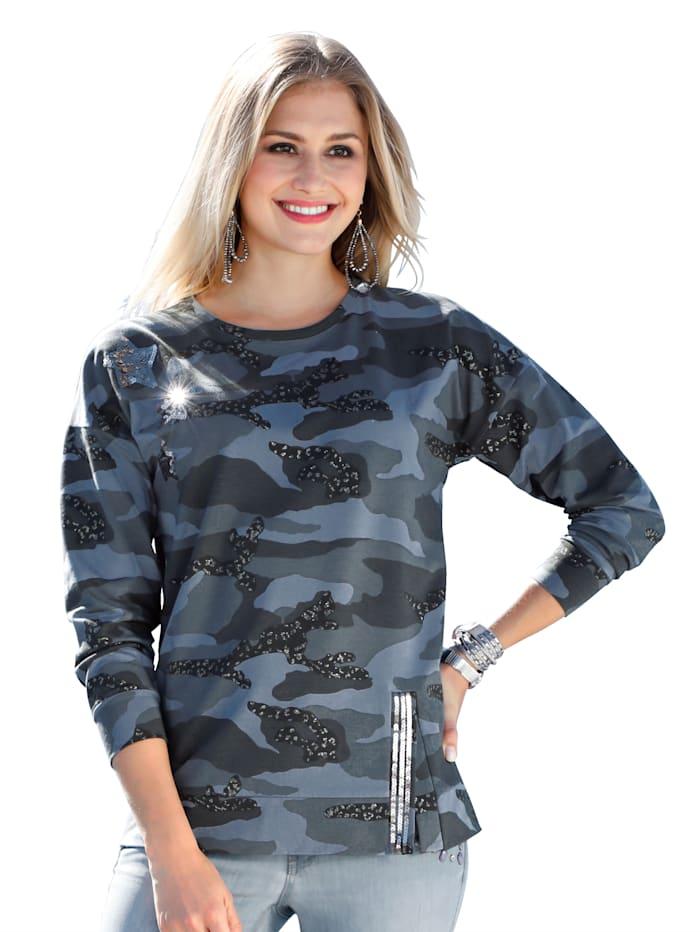 Sweatshirt met print rondom