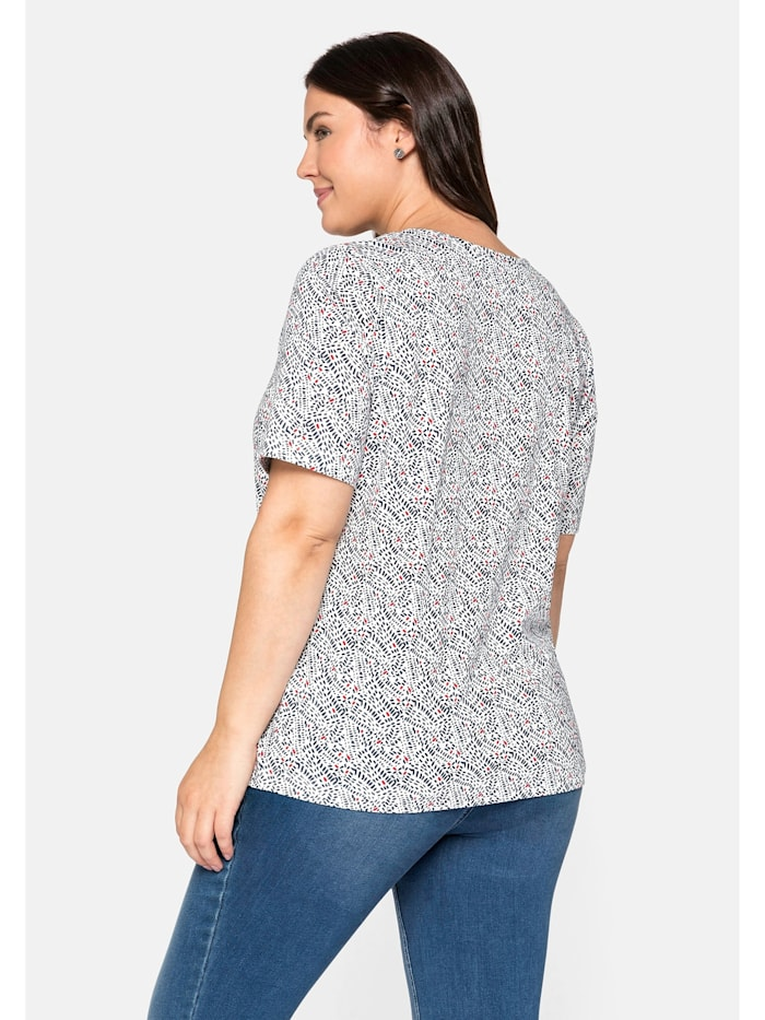 Sheego T-Shirt bedruckt mit Halbarm