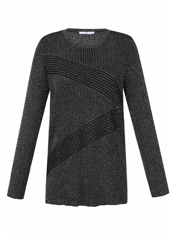 Emilia Lay Pullover Pullover, schwarz/silber
