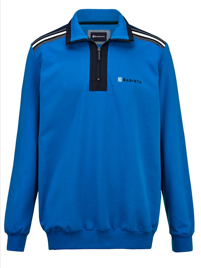 BABISTA Sweatshirt met hoogwaardige contrasterende details, Royal blue